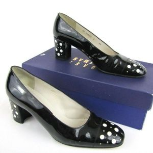 STUART WEITZMAN 6.5 M Heels Black Patent Leather